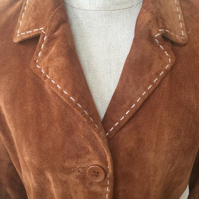 Brandon Thomas Suede Soft Western Contrast Brown Leather Jacket Image 2
