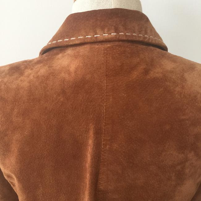 Brandon Thomas Suede Soft Western Contrast Brown Leather Jacket Image 3