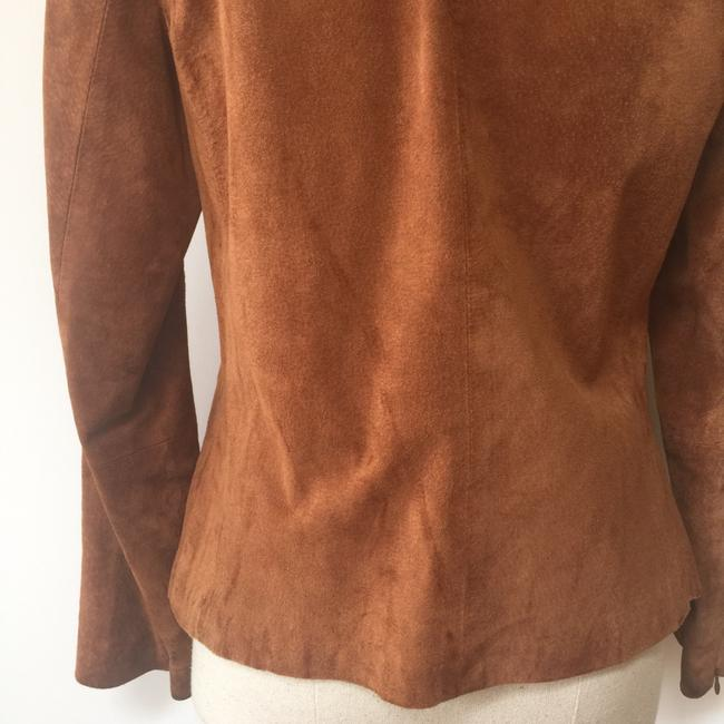 Brandon Thomas Suede Soft Western Contrast Brown Leather Jacket Image 4