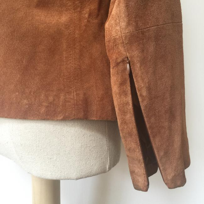 Brandon Thomas Suede Soft Western Contrast Brown Leather Jacket Image 5