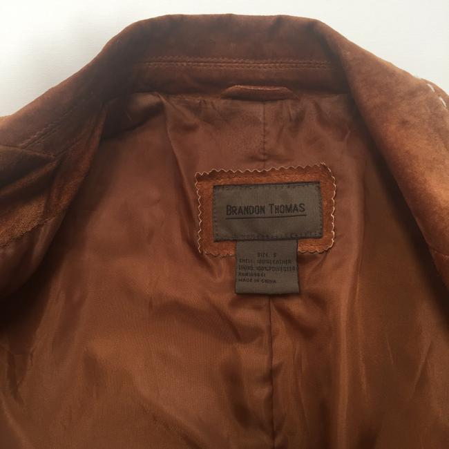 Brandon Thomas Suede Soft Western Contrast Brown Leather Jacket Image 6