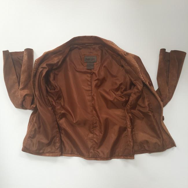 Brandon Thomas Suede Soft Western Contrast Brown Leather Jacket Image 7