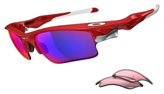 Oakley Oakley OO9156-16 Infrared Red Frame Male Sunglasses