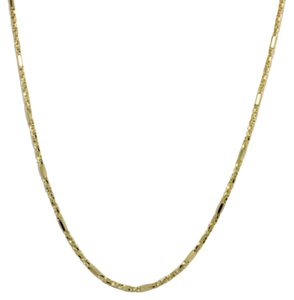 Other 14K Solid Yellow Gold Twisted Box and Bar Chain 16 Inches
