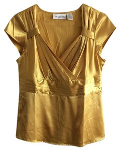 Chadwicks Gold Vneck Evening Top