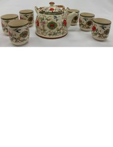 Ivory - Multi 7-pc Porcelain Tea Set Casual China