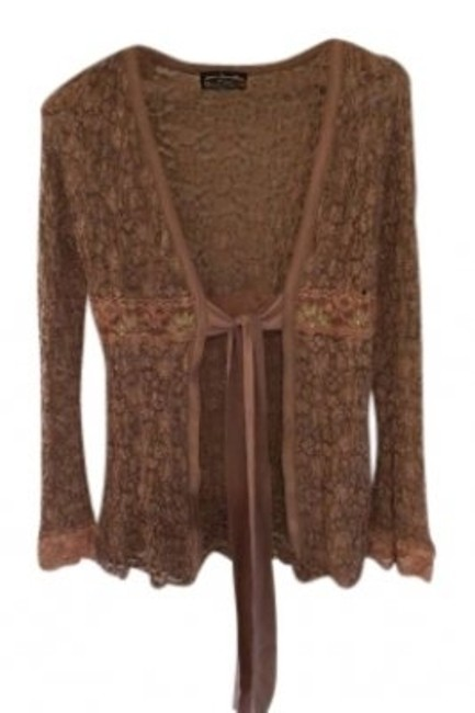 Preload https://item2.tradesy.com/images/ann-ferriday-taupe-stretchy-lace-with-ties-cardigan-size-os-one-size-152131-0-0.jpg?width=400&height=650