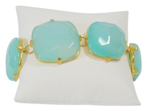 Other NEW FASHION LIGHT BLUE TOPAZ STONE GOLD PLATED BRACELET ONE SIZE