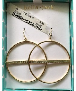 Bella Jack Crystal and Goldtone Hoops