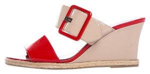 Fendi Tan & Orange Wedges
