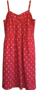 J.Crew short dress Red and white Summer Patterns on Tradesy