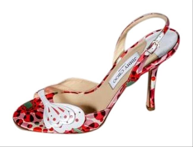 Item - White Red Purple Green Pink Cleo Pumps Size US 9.5