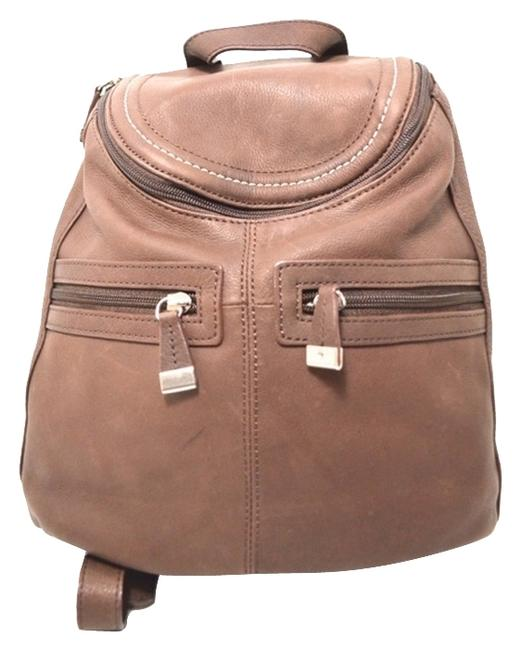 Item - Brown Leather Backpack