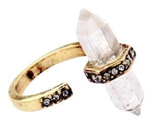 Other Clear Natural Stone Druzy Ring