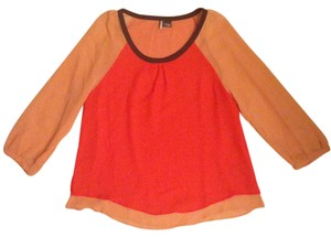 Urban Outfitters Top Coral and Peach