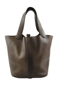 Hermès Barenia Picotin Leather Tote in Chocolate Brown