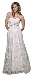 Kenneth Winston Ivory Lace/Satin Winston-style 1464-size 12- Gown-(115l) Formal Wedding Dress Size 12 (L)