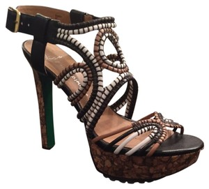 Donald J. Pliner Multi-color Straps Cork Sole Sandals