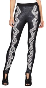 BCBGMAXAZRIA Bcbg Sequin Heather Black-Dark Steel-Grey Leggings