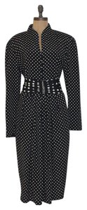 Liz Claiborne Polka Dot Vintage Belted Dress