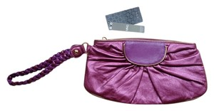 Mango Metallic Night Out Date Night Purple Clutch