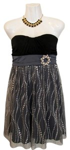 IZ Byer Dress Strapless Nwot New Sparkles Rhinestones Dress