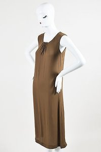 Maison Margiela short dress Brown Maison Sleeveless Safety Pin on Tradesy