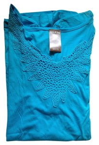 White Stag Lace T Shirt Aqua