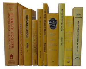 Vintage Style Books - Yellow 721 - Set Of 10
