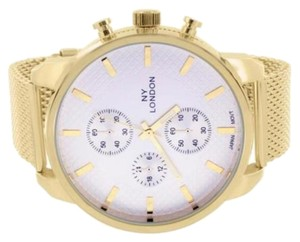 Geneva Platinum Yellow,Gold,Finish,Watch,Mesh,Band,Stainless,Steel,Back,