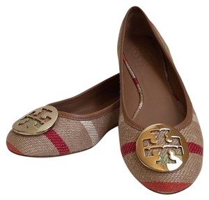 Tory Burch Tan w stripes Flats