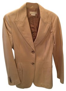 Michael Kors Blazer Tan Leather Jacket