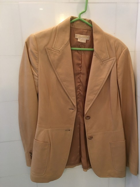 Michael Kors Blazer Tan Leather Jacket Image 1