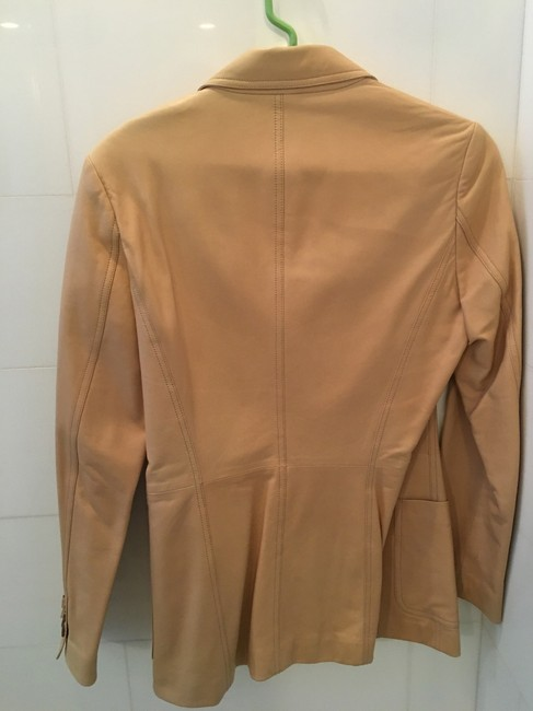 Michael Kors Blazer Tan Leather Jacket Image 2
