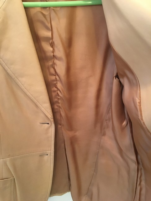 Michael Kors Blazer Tan Leather Jacket Image 3