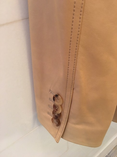 Michael Kors Blazer Tan Leather Jacket Image 5