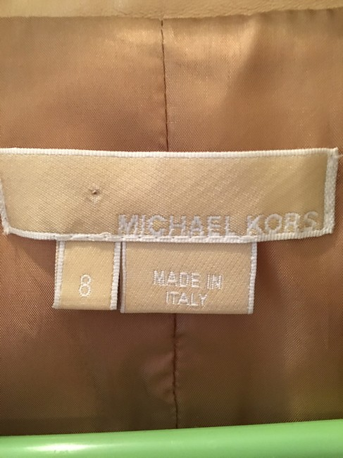 Michael Kors Blazer Tan Leather Jacket Image 7