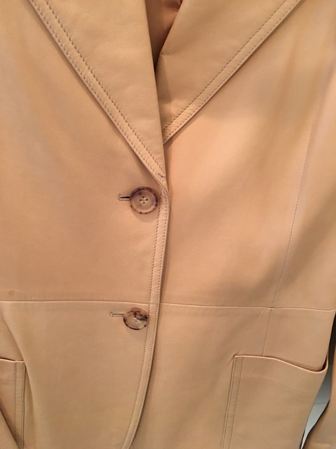 Michael Kors Blazer Tan Leather Jacket Image 8