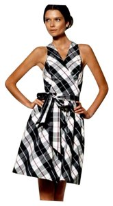 Ralph Lauren Plaid Wrap V-neck Dress