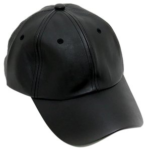 Modern Edge faux leather baseball cap
