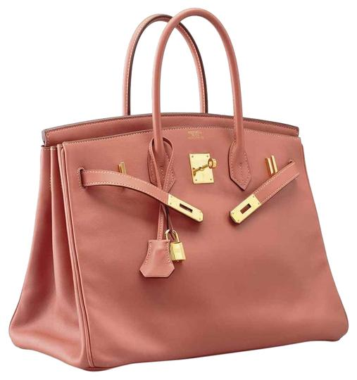 Hermès Satchel In Rose Tea