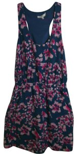Eliot Danori short dress Floral pink and blue background Flowy Summer on Tradesy