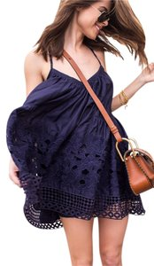Tryb 212 short dress navy Flowy Summer Lace Boho Cotton on Tradesy