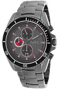 Michael Kors Michael Kors Lansing Chronograph Grey Dial Gunmetal Ion-plated Men's Watch 45mm MK8340