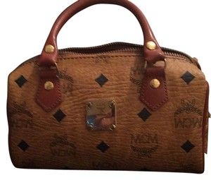 MCM Mini Handbag Satchel in Congac