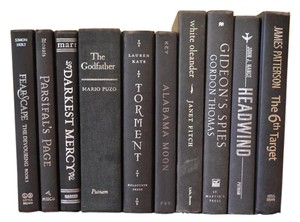 Vintage Style Books - Black With Silver Text 241 - Set Of 10