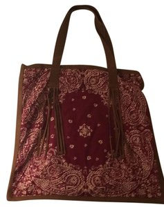 American Eagle Outfitters Tote in Maroon Cream And Brown