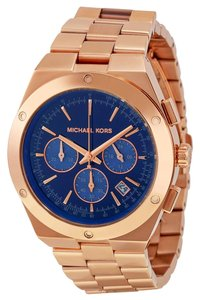 Michael Kors Michael Kors Reagan Chronograph Blue Dial Rose Gold-tone Ladies Watch 43mm MK6148