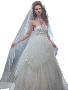 Alfred Angelo Cathedral Veil - Belle Glitter And Bead