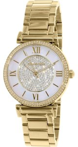 Michael Kors Michael Kors Catlin Mother of Pearl Dial Gold-Plated Ladies Watch MK3332